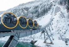 Ponen en marcha ferrocarril funicular más empinado del mundo ubicado en Suiza