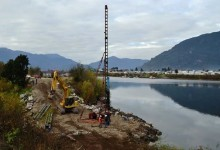 A fines de febrero terminarán pilotaje del puente Juan Pablo II