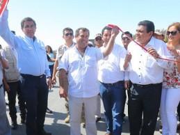 Ministro Giuffra inaugura vía Monsefú-Valle Hermoso en Chiclayo