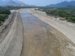 Culminan trabajos de descolmatación en el tramo II del río Olmos