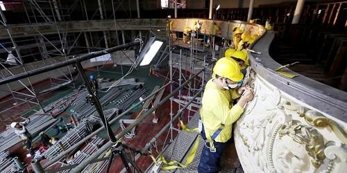 Castañeda supervisó los trabajos de restauración del histórico Teatro Segura y Sala Alcedo