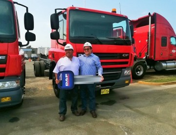 Motored entrega tres unidades DAF CF65 a Transportes Pereda