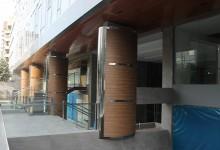 Edificio Blu Building II: Composición de figuras geométricas