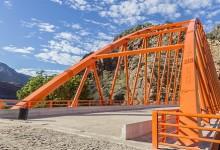 Puente Calemar: Estructura metálica sobre el Marañón