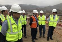 Ministro de Fomento de España visita obras de la sede de VMT de los Juegos Panamericanos