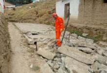 Inician obras de reconstrucción en distrito de Cabana
