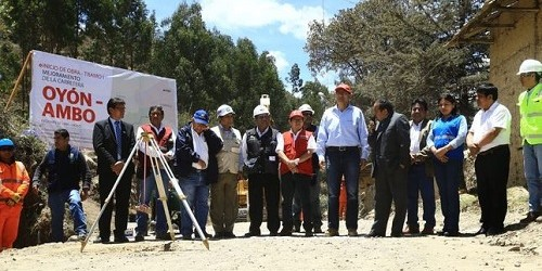 MTC inicia obras para el primer tramo de la carretera Oyón – Ambo
